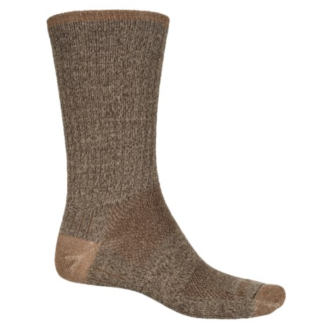 Wrightsock Adventure Double-Layer Socks - Crew (For Men) in Brown Marl