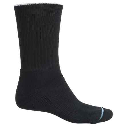 Wrightsock Comfort Socks - Crew (For Men and Women) in Black - Closeouts