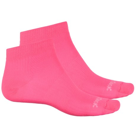 Wrightsock Coolmesh® II Low Socks - 2-Pack, Ankle (For Men and Women) in Neon Pink