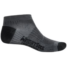 Wrightsock Coolmesh® II Running Socks - Below the Ankle (For Men and Women) in Ash/Black - Closeouts