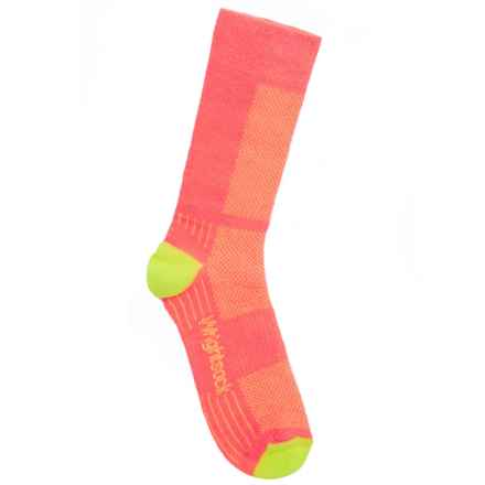 Wrightsock Coolmesh II Socks - Crew (For Big and Little Girls) in Pink/Yellow - Closeouts