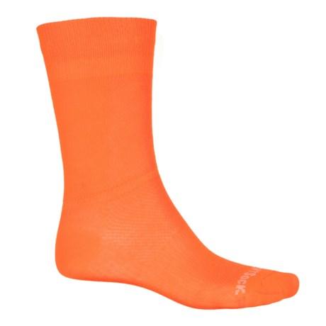 Wrightsock Coolmesh® II Socks - Crew (For Men and Women) in Neon Orange