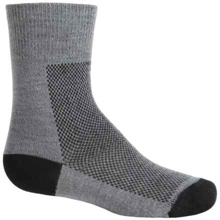 Wrightsock CoolMesh® Socks - Crew (For Big Kids) in Grey - Closeouts