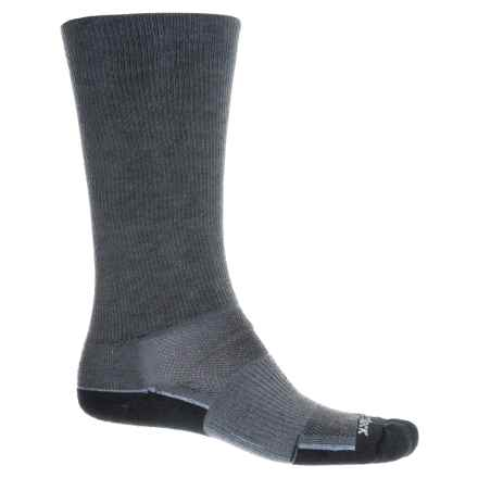 Wrightsock Crew Socks (For Men and Women) in Black/Ash - Closeouts