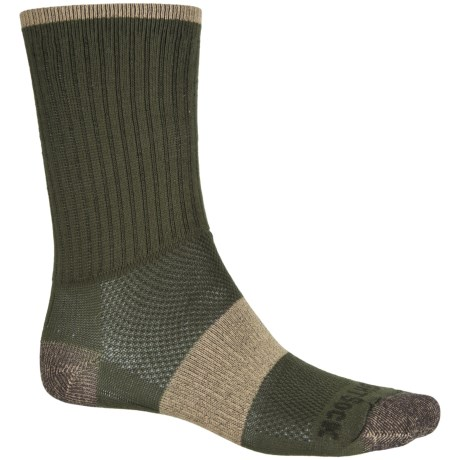 Wrightsock Escape Hiking Socks - Crew (For Men and Women) in Green Khaki