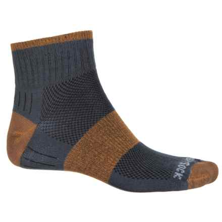 Wrightsock Escape Hiking Socks - Quarter Crew (For Men and Women) in Ash/Rust - Closeouts