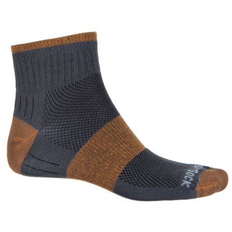 Wrightsock Escape Hiking Socks - Quarter Crew (For Men and Women) in Ash/Rust