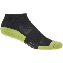 Wrightsock Fuel Low Running Socks - Ankle (For Women) in Black/Lime - Closeouts