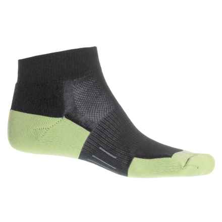Wrightsock Fuel Low Socks - Below the Ankle (For Men and Women) in Black/Lime - Closeouts