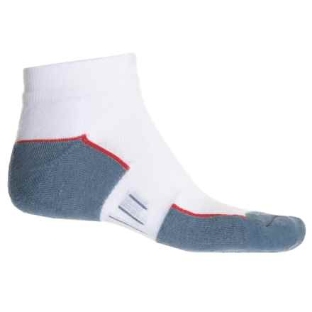 Wrightsock Fuel Low Socks - Below the Ankle (For Men and Women) in White/Grey - Closeouts