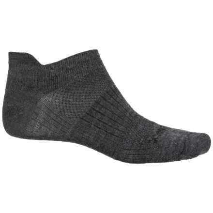 Wrightsock Merino Coolmesh® II Tab Socks - Merino Wool, Below the Ankle (For Men and Women) in Grey/Black - Closeouts