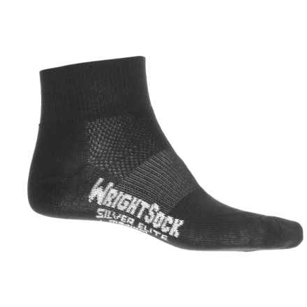 Wrightsock Silver Stride Running Socks - Quarter Crew (For Men and Women) in Black - Closeouts