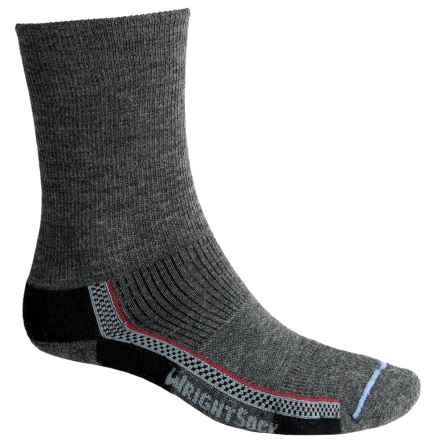 Wrightsock Slim Hiking Socks - Merino Wool, Crew (For Men and Women) in Grey - Closeouts