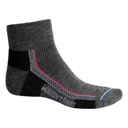 Wrightsock Slim Hiking Socks - Merino Wool, Quarter Crew (For Men and Women) in Grey - Closeouts
