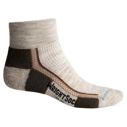 Wrightsock Slim Hiking Socks - Merino Wool, Quarter Crew (For Men and Women) in Tan - Closeouts