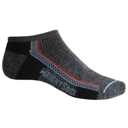 Wrightsock Slim Lo Hiking Socks - Merino Wool, Below the Ankle (For Men and Women) in Grey - Closeouts