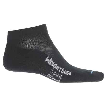 Wrightsock Spirit Socks - Below the Ankle (For Men and Women) in Black - Closeouts