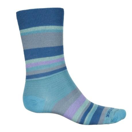 Wrightsock Stride Socks - Crew (For Men and Women) in Blue Mist