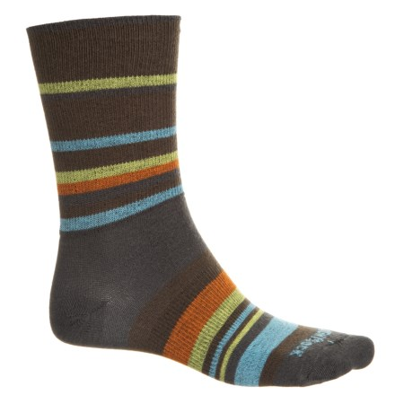 0f37c9b6745 Wrightsock Stride Stripe Socks - Crew (For Men and Women) in Grey -  Closeouts