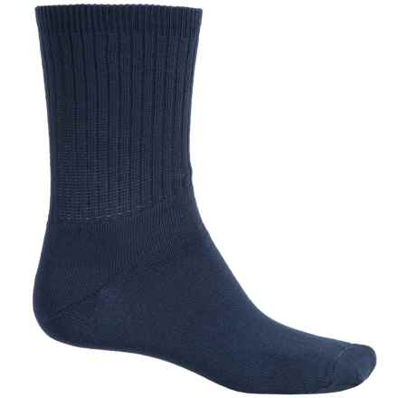 Wrightsock Uniform Socks - Crew (For Men and Women) in Navy - Closeouts