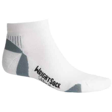Wrightsock Velocity Lo Socks - Below the Ankle (For Men and Women) in White/Grey - Closeouts