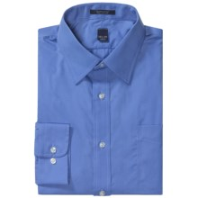 Wrinkle-Free Broadcloth Dress Shirt - Long Sleeve (For Men) in French Blue - 2nds