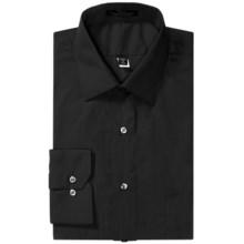 Wrinkle-Free Poplin Dress Shirt - Modified Spread Collar, Long Sleeve (For Men) in Black - 2nds