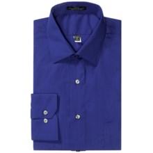 Wrinkle-Free Poplin Dress Shirt - Modified Spread Collar, Long Sleeve (For Men) in Royal - 2nds