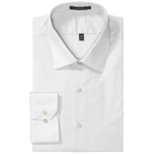 Wrinkle-Free Poplin Dress Shirt - Modified Spread Collar, Long Sleeve (For Men) in White - 2nds