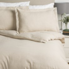Wulfing Dormisette Luxury Flannel Duvet Set - Queen, Cotton-Linen in Natural Solid - Overstock