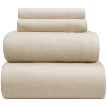 Wulfing Dormisette Luxury Flannel Sheet Set - King, Cotton-Linen in Natural Solid - Overstock