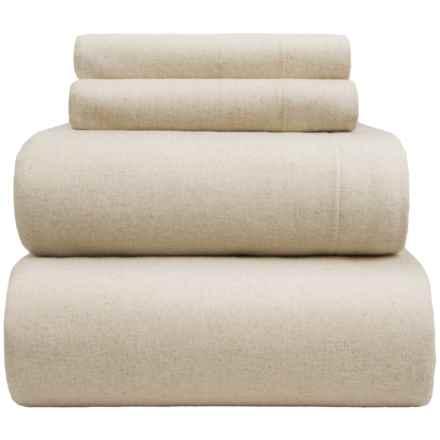 Wulfing Dormisette Luxury Flannel Sheet Set - King in Natural Solid - Overstock