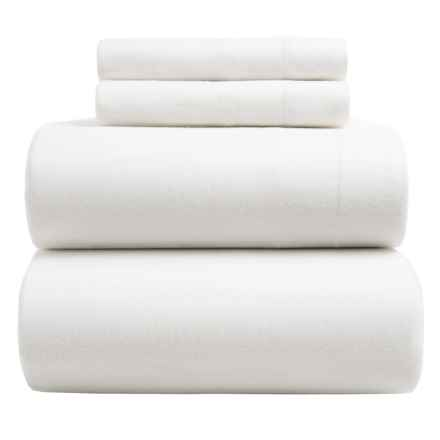 Wulfing Dormisette Luxury Flannel Sheet Set - King in White - Overstock