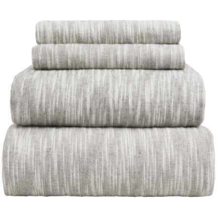 Wulfing Dormisette Striated Luxury Flannel Sheet Set - King in Gray - Overstock