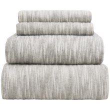 Wulfing Dormisette Striated Luxury Flannel Sheet Set - Queen in Gray - Overstock