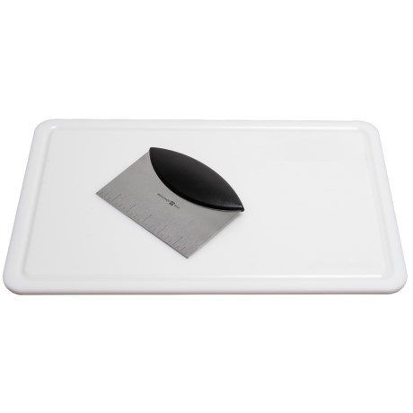 Wusthof Bench Scraper-Pastry Knife and Cutting Board Set in See Photo
