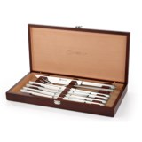 Wusthof Stainless Steel Steak and Carving Knife Set with Presentation Box - 10-Piece