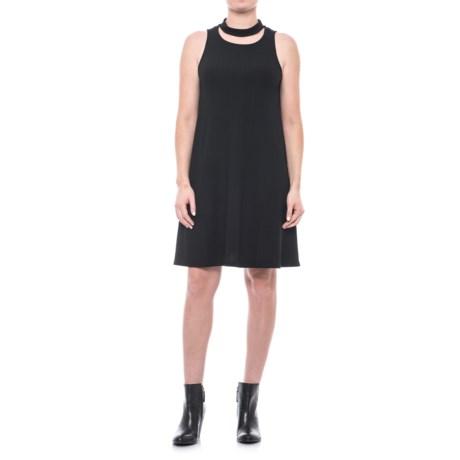 X by Gottex Choker Neck A-Line Dress - Sleeveless (For Women) in Black