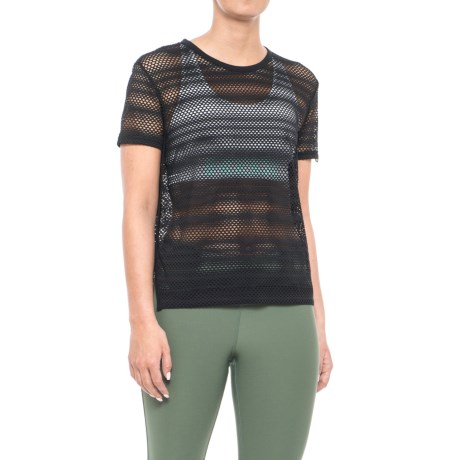 X by Gottex City Crop Top - Short Sleeve (For Women) in Black
