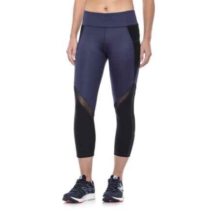 X by Gottex Color-Block Capri Leggings (For Women) in Indigo Chintz - Closeouts