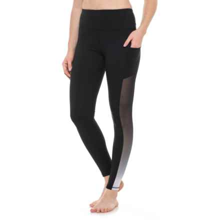 X by Gottex Compression Ombre Power Mesh Leggings (For Women) in Black - Closeouts
