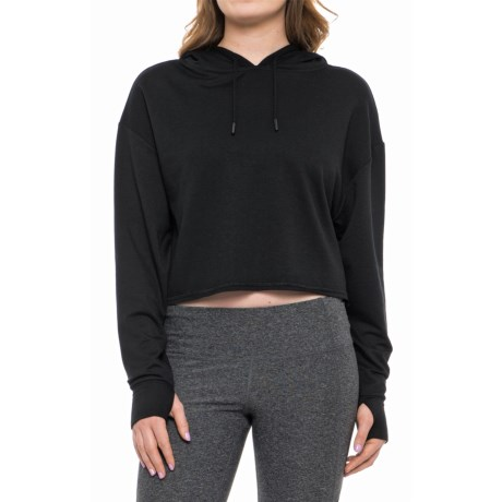 X by Gottex Crop Hoodie (For Women) in Black