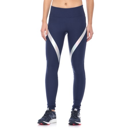 X by Gottex Curved Stripe Leggings (For Women) in Medium Blue