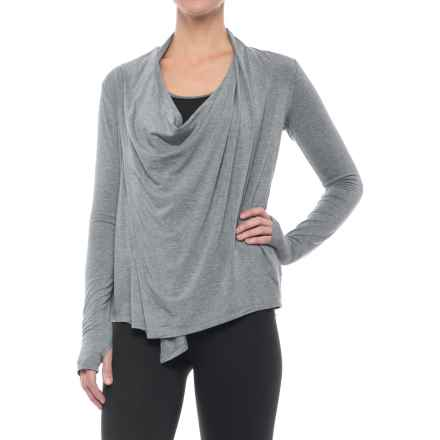 X by Gottex Front Drape Jacket - Modal (For Women) in Heather Gray - Closeouts