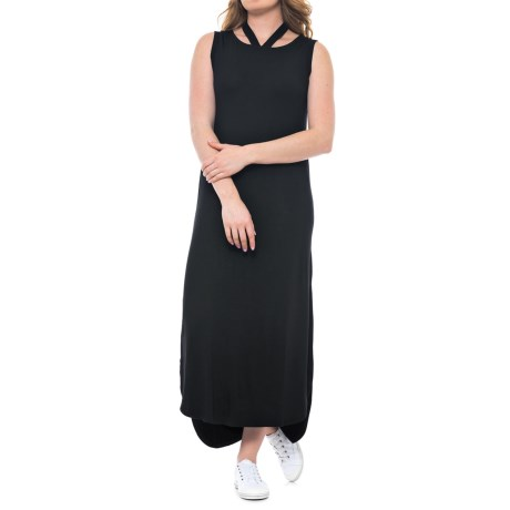 X by Gottex High-Low Side-Slit Dress - sleeveless (For Women) in Black