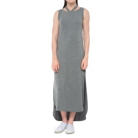 X by Gottex High-Low Side-Slit Dress - sleeveless (For Women) in Heather Grey