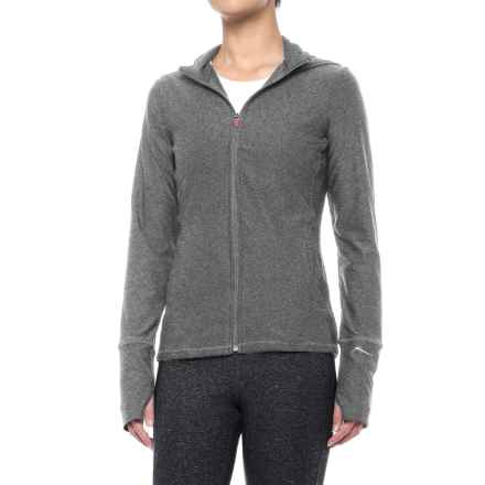 X by Gottex Hooded Jacket (For Women) in Dark Grey - Closeouts