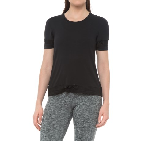 X by Gottex Loose Drawstring Shirt - Short Sleeve (For Women) in Black