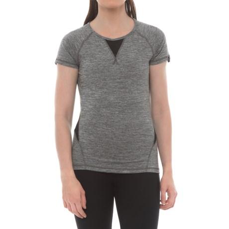 X by Gottex Mesh-Back Shirt - Short Sleeve (For Women) in Dark Grey