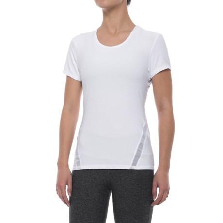 X by Gottex Mesh-Back Shirt - Short Sleeve (For Women) in White